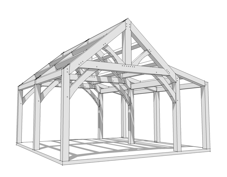 Porch And Deck System Timber Frame 565 300 14x16