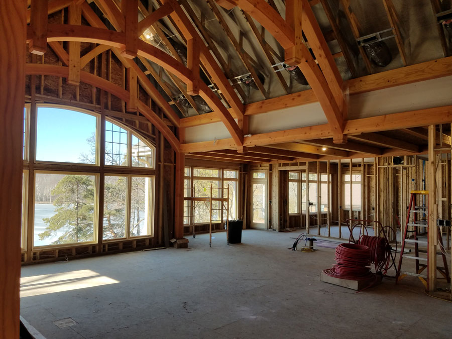 West Bend Wi Beautiful Arched Truss Custom Timber Frames