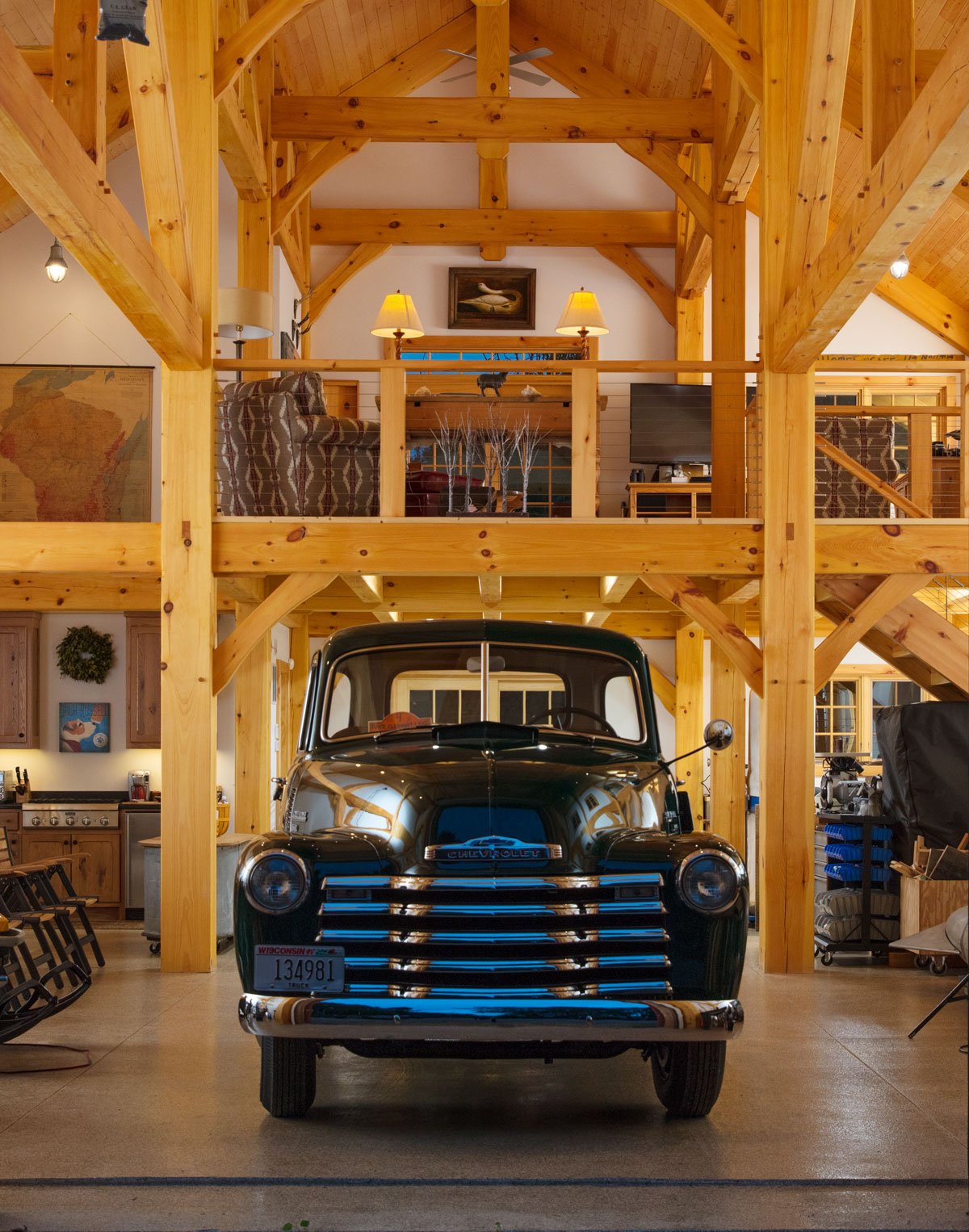 Timber Frame Party Barn Northern Wisconsin