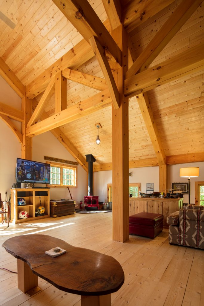 Timber Frame Barn and Garage WI
