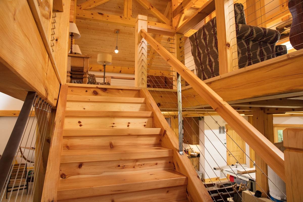 Timber Frame Man Cave Northern Wisconsin