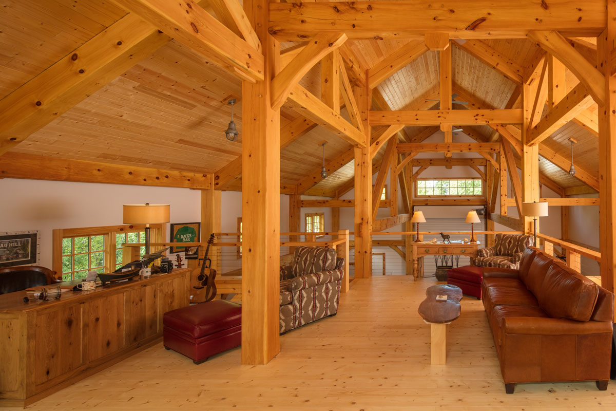 Northern Wisconsin Timber Frame Barn
